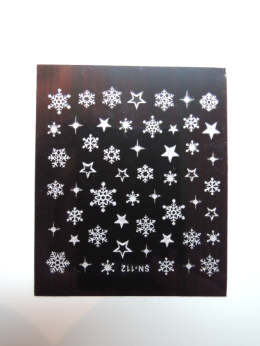 Snow flakes sticker